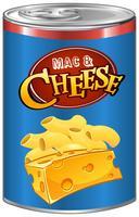 Mac e formaggio in lattina vettore