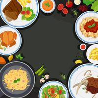 Modello di sfondo con cibo salutare