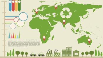 Un infografica con una mappa vettore