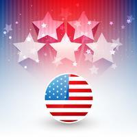 elegante design della bandiera americana vettore