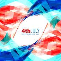 4 luglio giorno dell'indipendenza americana vettore