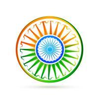 bellissimo design creativo bandiera indiana vettoriale