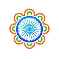 vettore indiano dell'illustrazione di concetto di progetto della bandiera
