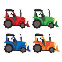 disegno vettoriale raccolta trattore