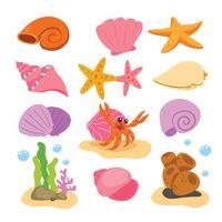 disegno di raccolta vettoriale shell