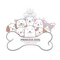 Cutu, cane divertente - illustrazione animale.