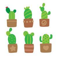 disegno di raccolta vettoriale cactus