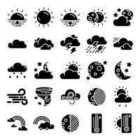Pacchetto di icone del tempo vettore