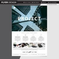 Progettazione professionale di vettore dell'aletta di filatoio o dell'opuscolo, illustrazione astratta del catalogo della copertura di rivista