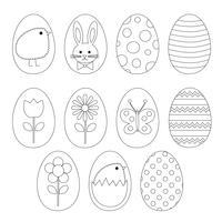 Clipart di timbri digitali dell'uovo di Pasqua