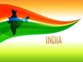 design bandiera indiana in stile onda vettore