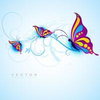 design creativo di farfalle vettore