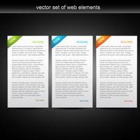set vettoriale di tre banner web