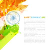 design della bandiera indiana vettore