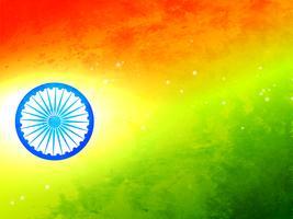 Bandiera dell'India fatta in tricolore e ruota vettore
