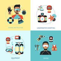 Concetto di design subacqueo