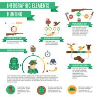 Insieme di infographics di caccia