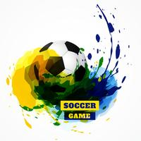 sfondo di design di calcio vettore