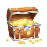 Petto di monete vettore