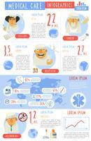Poster di presentazione di infographics di assistenza medica