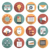 Icona Web piatta vettore