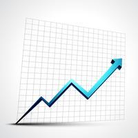 freccia di progresso della crescita vettore