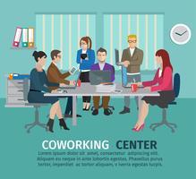 Concetto di centro di coworking