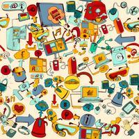 Internet Of Things senza soluzione di continuità vettore