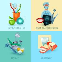 Concetto di design di stomatologia vettore