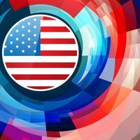 sfondo del giorno dell'indipendenza americana vettore