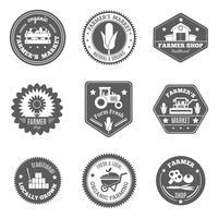Set di etichette contadino vettore
