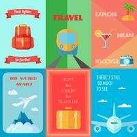 Set di poster da viaggio vettore