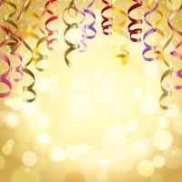 Sfondo di celebrazione con stelle filanti vettore