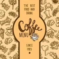 Etichetta del menu caffè