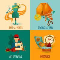 Concetto di design per cucire