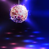 Sfondo di palla da discoteca vettore