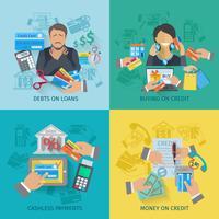 vita di credito piatta