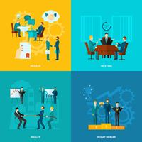 Set di collaborazione piatta vettore