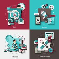 Set di concept design di comunicazione vettore