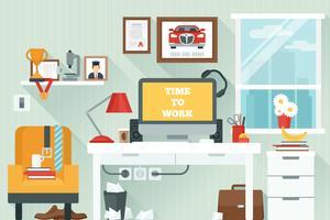 Area di lavoro nella stanza vettore