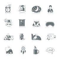 Set di icone del tempo di sonno vettore
