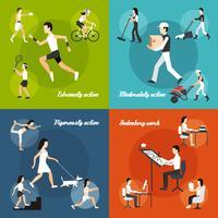 Set di attività fisica vettore