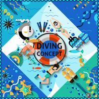 Concetto di immersioni subacquee