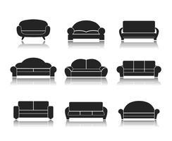 Divani e divani moderni di lusso vettore
