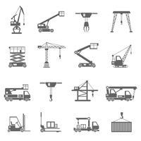 Icone di attrezzature di sollevamento vettore