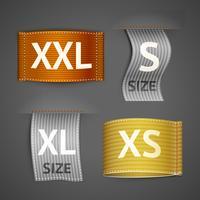 Set di etichette di abbigliamento vettore