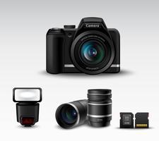 Macchina fotografica e accessori vettore