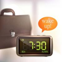 Sfondo sveglia digitale vettore