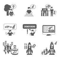 Icone di Crowdfunding impostate