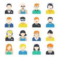 Set di icone di carattere avatar